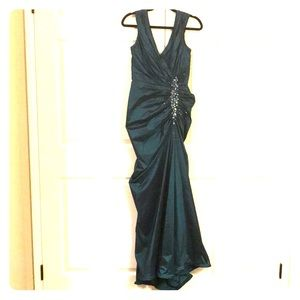 Elegant Deep Teal Evening Dress
